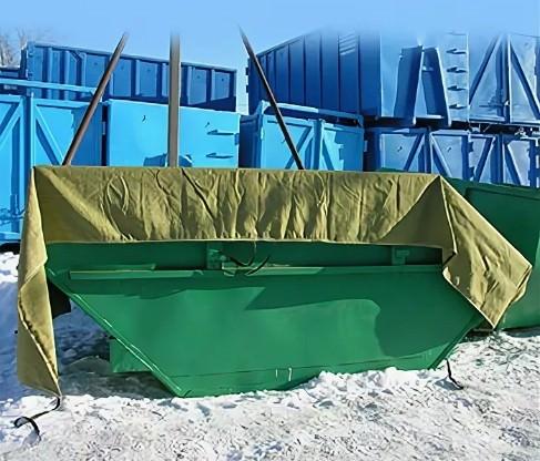 Тент полог Брезент ВО 450г/м2 с люверсами для контейнеров