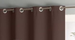 Штора уличная на веранду (В-220*Ш-150) Темно-коричневая, (ткань Оксфорд 600)