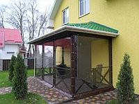 Прозрачные пвх шторы для входа дома